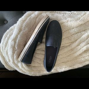 Ralph Lauren Navy woven deck shoe